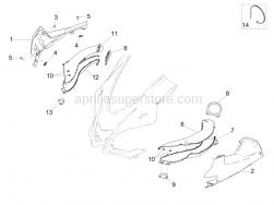 Body - Duct - Hex socket screw Black M5x12
