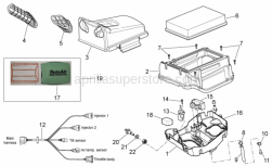 Frame - Air Box - Aprilia -  LH air intake