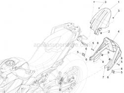 Body - Rear Mudguard - Screw w/ flange M6X16