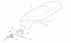 Frame - Saddle Unit - Aprilia - SEAT ASSY, BLACK