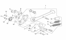 FRAME - CENTRAL STAND - Low self-locking nut
