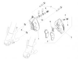 FRAME - FRONT BRAKE CALIPER - Air bleed valve