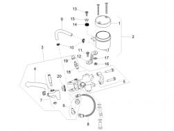 FRAME - FRONT MASTER CILINDER - Rear brake pump union