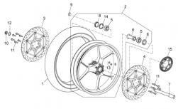 FRAME - FRONT WHEEL - RH front brake disc D.330