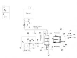 FRAME - FUEL VAPOUR RECOVER SYSTEM - White hose clip d.13x6