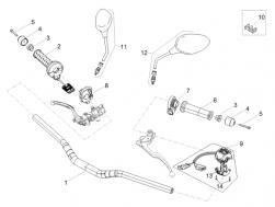 FRAME - HANDLEBAR - CONTROLS - Selector control bracket
