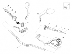 FRAME - HANDLEBAR - CONTROLS - Cable-guide D8