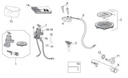 FRAME - LOCK HARDWARE KIT - Fuel filler cap and lock