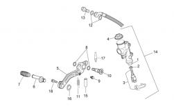 FRAME - REAR MASTER CYLINDER - Rear brake lever