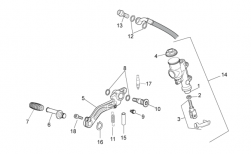 FRAME - REAR MASTER CYLINDER - Fixing pin