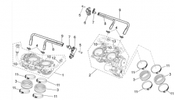 FRAME - THROTTLE BODY - Fuel pipe, cpl. post.