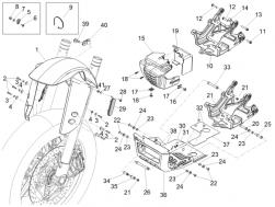 BODY - FRONT MUDGUARD-PILLAR - Rear panel