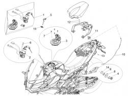 BODY - LOCKS - Pass.saddle connecting plate