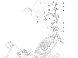 BODY - LUGGAGE RACK - screw M8x45