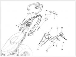 BODY - REAR BODY - Saddle mounting closing