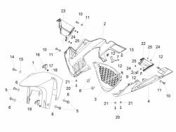 BODY - FRONT MUDGUARD-PILLAR - Hex socket screw Black M5x12