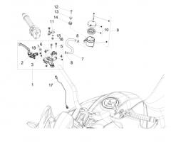 BRAKE SYSTEM - FRONT MASTER CILINDER - Hex socket screw M6x20