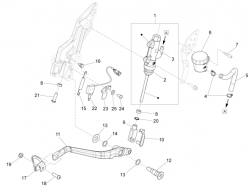 BRAKE SYSTEM - REAR MASTER CYLINDER - Low self-locking nut