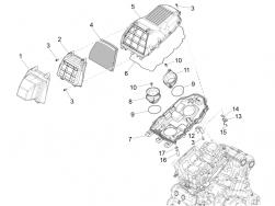 ENGINE - AIR BOX - Tank support bracket SX