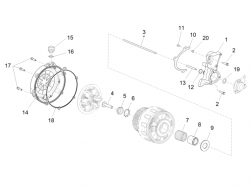 ENGINE - CLUTCH COVER - Safety washer