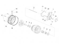 ENGINE - CLUTCH COVER - screw TSPEI M5x20