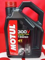 Motorcycle - Chemicals and Tools - Motul - Motul 300V 15W50 Fully Synthetic Oil 4 Liter