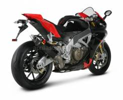 RSV4 1000 - Exhaust - Akrapovic - Akrapovic Carbon Slip-On System for RSV4 / Tuono V4