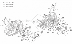 Engine - Crankcases II - Aprilia - Neutral indicator switch