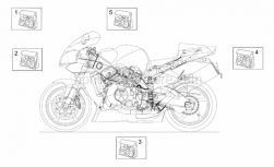 Frame - Decal - Aprilia - Rear fairing decal set
