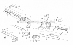 Frame - Handlebar - Aprilia - Right half handlebar SUPERSEDED BY AP81186494
