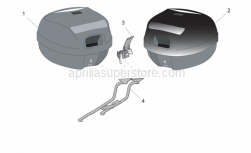 Accessories - Acc. - Top/Cases, Side Cases - Aprilia - Top box, e.blue New-C 28L