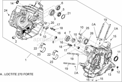 Engine - Crankcases I - Aprilia - STUD, SCREW