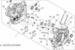Engine - Crankcases I - Aprilia - DOWEL