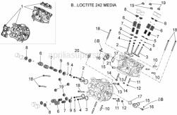 Engine - Cylinder Head - Valves - Aprilia - CYLINDER STUD 125 2 STROKE  U