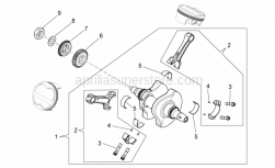 Engine - Drive Shaft - Aprilia - HALF BEARING FOR PISTON ROD