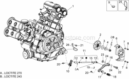 Engine - Engine - Aprilia - Cable-guide