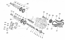 Engine - Front Cylinder Timing System - Aprilia - Asse a camme asp.SUPERSEDED BY B0135335