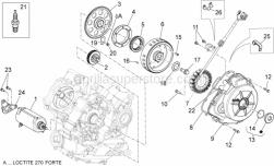 Engine - Ignition Unit - Aprilia - GASKET COVER AND HALF-CRANKCASE FLYWHEEL