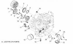 Engine - Oil Pump - Aprilia - Oil pump drive gear