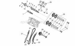 Engine - Rear Cylinder Timing System - Aprilia - Shim washer