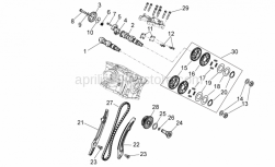 Engine - Rear Cylinder Timing System - Aprilia - screw M6x35
