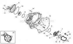Engine - Water Pump - Aprilia - Screw w/ flange M6x30