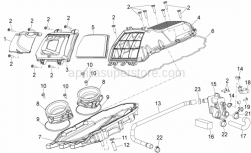 Frame - Air Box - Aprilia - SCREW W/ FLANGE M6x16*