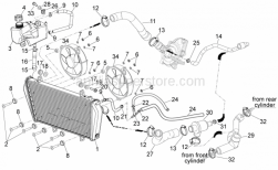Frame - Cooling System - Aprilia - Thermostat valve set 75#C