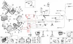 Frame - Electrical System II - Aprilia - Phillips screw, SWP M5x20