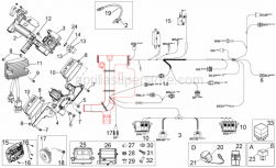 Frame - Electrical System II - Aprilia - T bush *