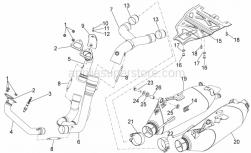 Frame - Exhaust Unit - Aprilia - Lamda sensor