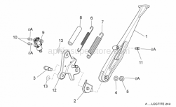 Frame - Central Stand - Aprilia - Plate Stand