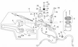 Frame - Front Master Cilinder I - Aprilia - Pil brake tank plug