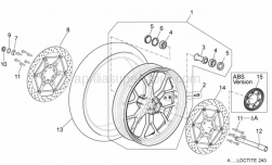 Frame - Front Wheel - Aprilia - Front RH whe.ou.spacer